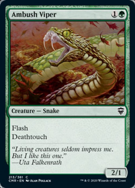 MtG Commander Legends Common Ambush Viper #213