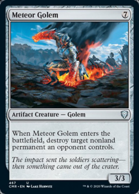 MtG Commander Legends Uncommon Meteor Golem #467 [Commander Deck]