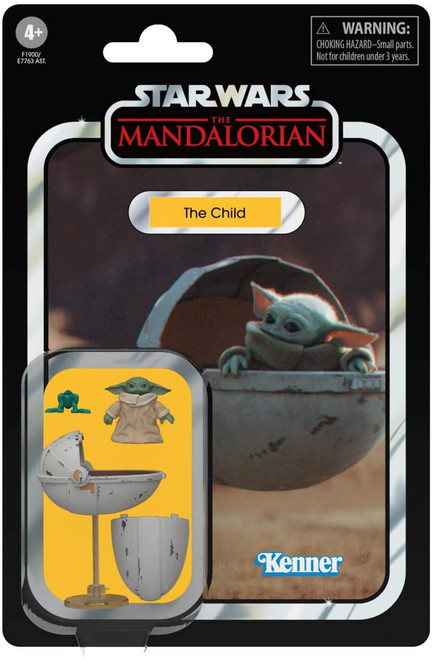 Star Wars The Mandalorian 2020 Vintage Collection Wave 6 The Child Action Figure [with Pram] (Pre-Order ships May)