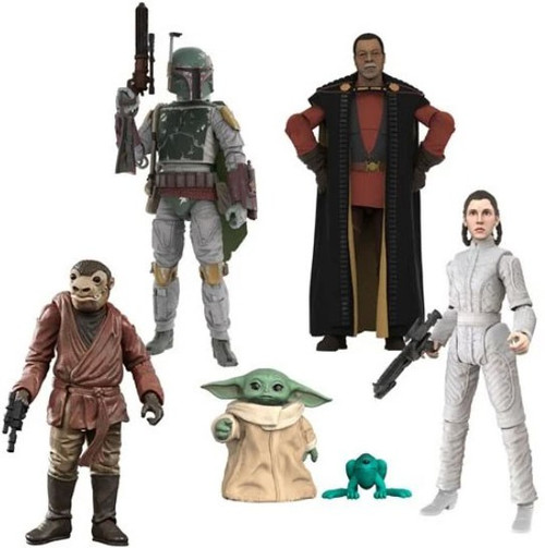 Star Wars Vintage Collection Wave 32 The Child, Greef Karga, Leia, Boba Fett & Zutton Set of 5 Action Figures (Pre-Order ships May)