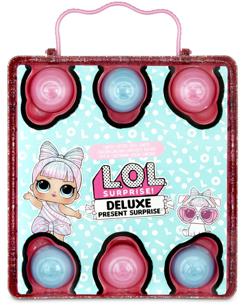 LOL Surprise DELUXE Present Surprise Miss Partay & Pet Partay Puppay Mystery Pack [PINK, Loose]
