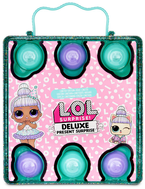 LOL Surprise DELUXE Present Surprise Sprinkles & Pet Sprin-claws Mystery Pack [GREEN, Loose]