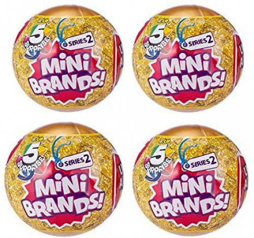 5 Surprise Mini Brands! Series 2 LOT of 4 Mystery Packs
