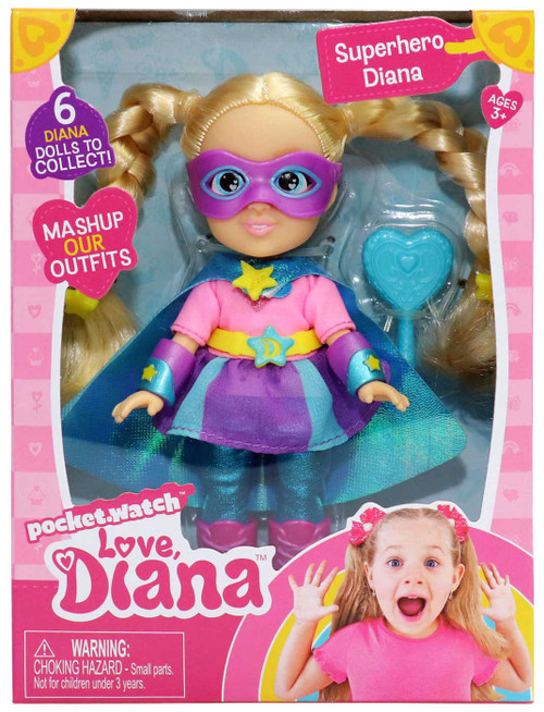 Love, Diana Superhero Diana 6-Inch Doll