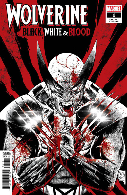 Marvel Wolverine: Black, White & Blood #1 of 4 Comic Book [Tony Daniel Variant, Misprinted with page of Web of Venom]