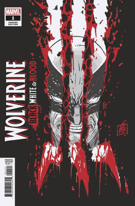 Marvel Wolverine: Black, White & Blood #1 of 4 Comic Book [Garney Variant, Misprinted with Page from Web of Venom]