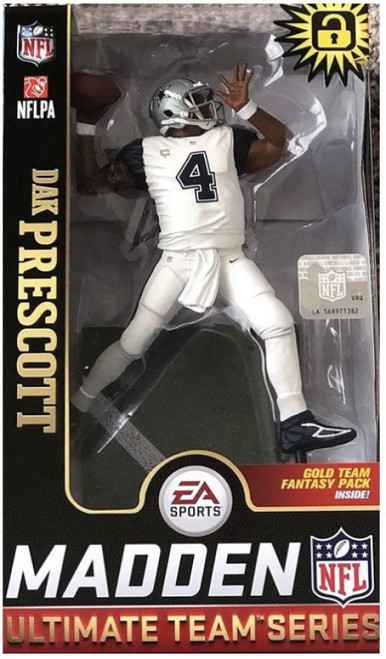 McFarlane Toys NFL Dallas Cowboys EA Sports Madden 19 Ultimate Team Series 1 Dak Prescott Action Figure [White Jersey]