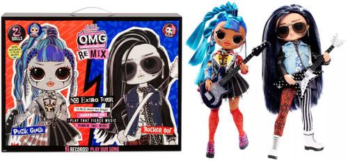 LOL Surprise OMG ReMix Punk Grrrl & Rocker Boi Fashion Doll 2-Pack