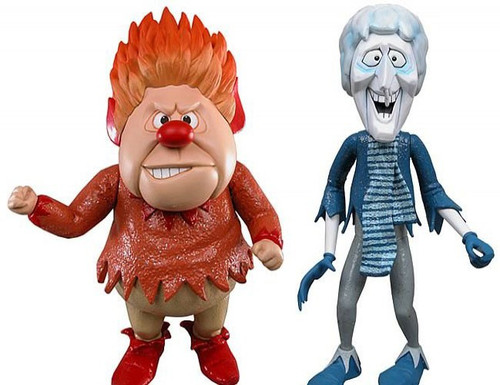 NECA Year Without Santa Claus Snow Miser & Heat Miser Set of Both Action Figures
