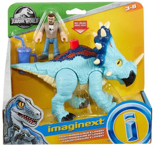 Fisher Price Jurassic World Imaginext Pachyrhinosaurus & Lowery Figure Set
