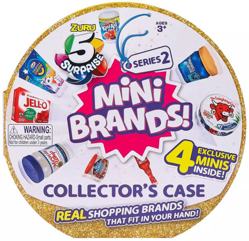 5 Surprise Mini Brands! Series 2 Collector Case [Includes 4 Minis!]