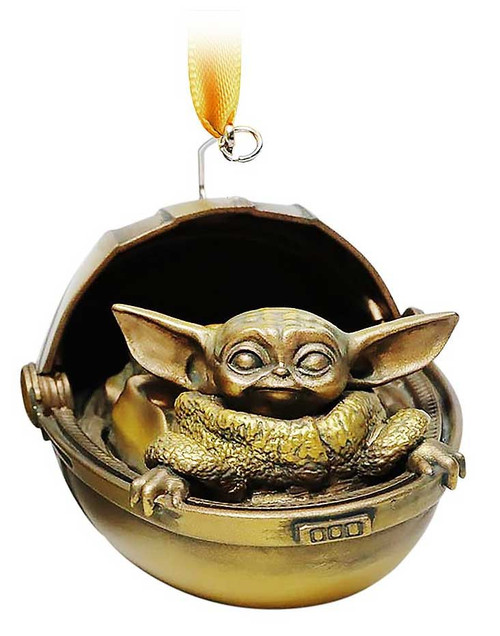 Disney Star Wars The Mandalorian Sketchbook The Child Exclusive Ornament [Baby Yoda, Bronze Variant]
