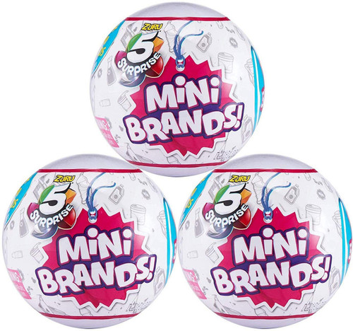 5 Surprise Mini Brands! Series 1 LOT of 3 Mystery Packs