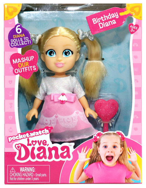 Love, Diana Birthday Diana 6-Inch Doll