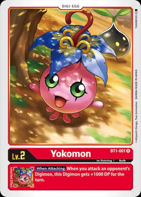Digimon Trading Card Game 2020 V.1 Rare Yokomon BT1-001