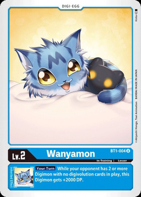 Digimon Trading Card Game 2020 V.1 Uncommon Wanyamon BT1-004