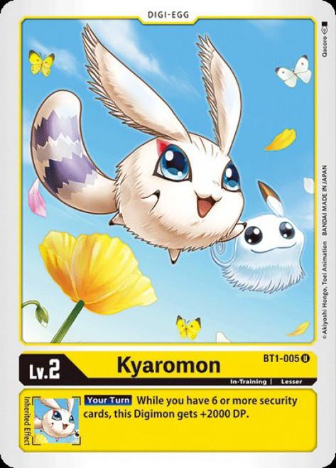 Digimon Trading Card Game 2020 V.1 Uncommon Kyaromon BT1-005