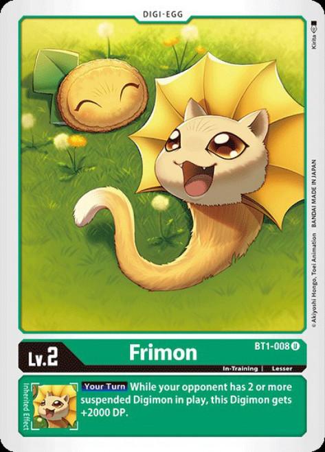 Digimon Card Game Digimon 2020 V.1 Uncommon Frimon BT1-008