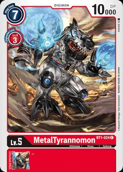 Digimon Trading Card Game 2020 V.1 Common MetalTyrannomon BT1-024