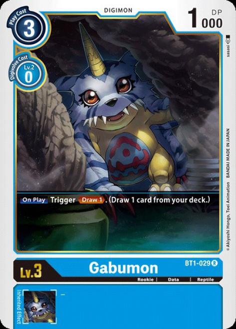 Digimon Trading Card Game 2020 V.1 Rare Gabumon BT1-029