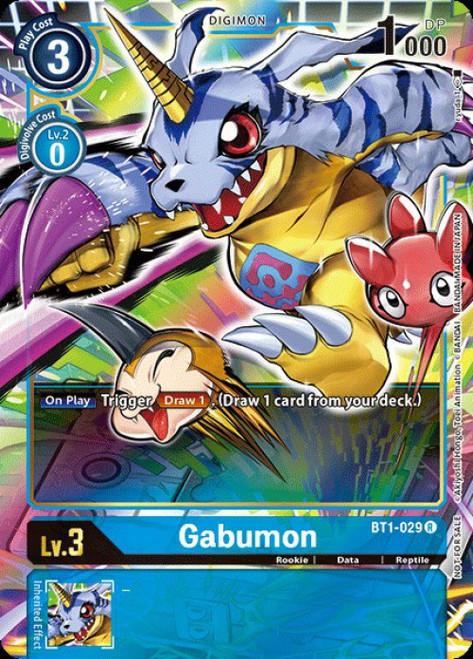Digimon Trading Card Game 2020 V.1 Rare Gabumon BT1-029 [Alternative Art]