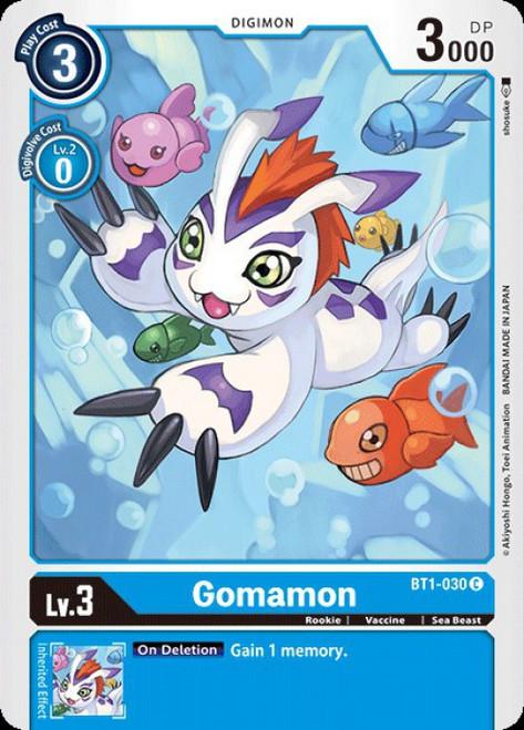 Digimon Trading Card Game 2020 V.1 Common Gomamon BT1-030
