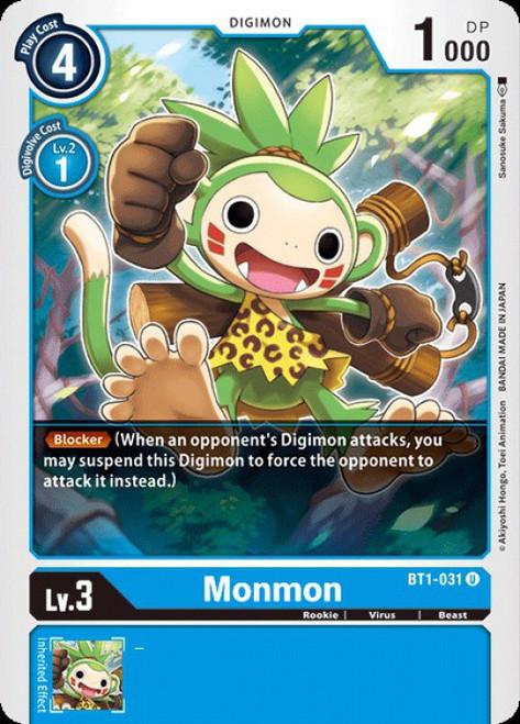 Digimon Card Game Digimon 2020 V.1 Uncommon Monmon BT1-031