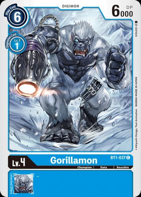 Digimon Trading Card Game 2020 V.1 Common Gorillamon BT1-037
