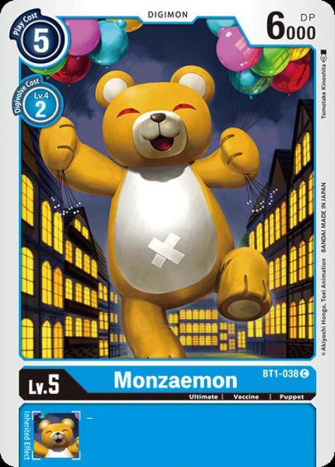 Digimon Trading Card Game 2020 V.1 Common Monzaemon BT1-038