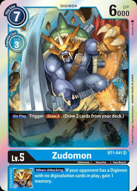 Digimon Trading Card Game 2020 V.1 Super Rare Zudomon BT1-041