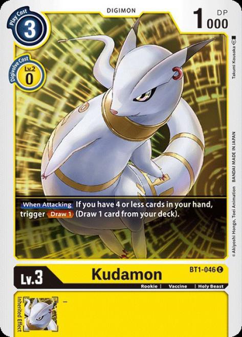 Digimon Trading Card Game 2020 V.1 Common Kudamon BT1-046