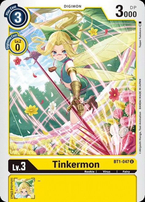 Digimon Trading Card Game 2020 V.1 Uncommon Tinkermon BT1-047