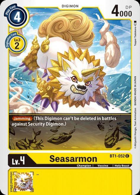 Digimon Trading Card Game 2020 V.1 Common Seasarmon BT1-052
