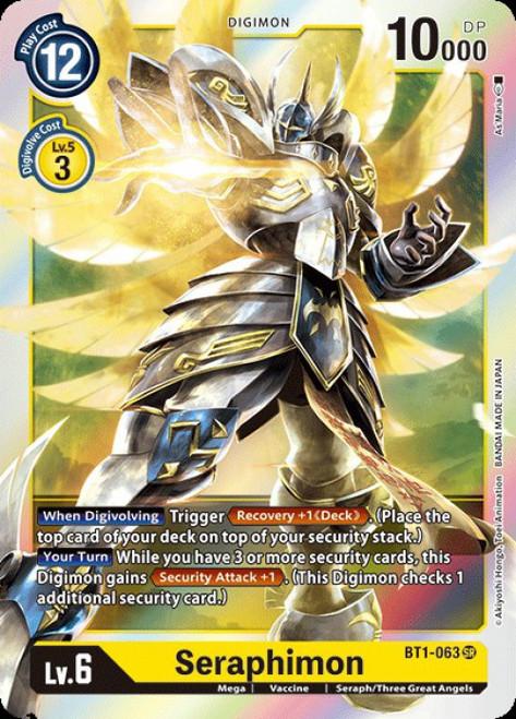 Digimon Card Game Digimon 2020 V.1 Super Rare Seraphimon BT1-063