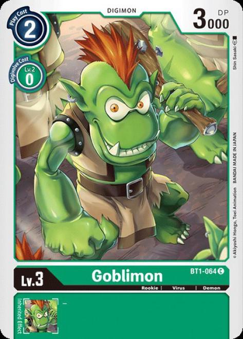 Digimon Card Game Digimon 2020 V.1 Common Goblimon BT1-064