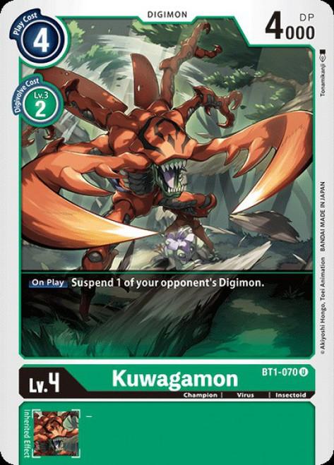 Digimon Trading Card Game 2020 V.1 Uncommon Kuwagamon BT1-070