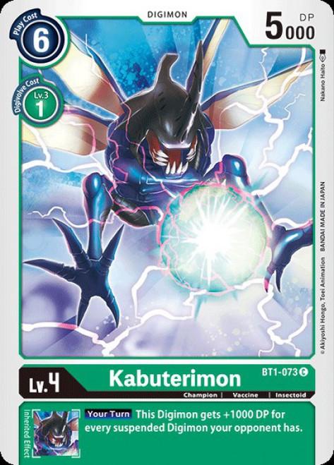 Digimon Trading Card Game 2020 V.1 Common Kabuterimon BT1-073