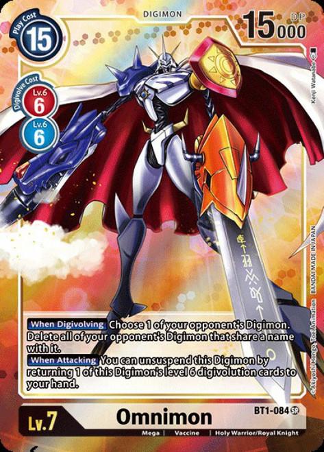 Digimon Trading Card Game 2020 V.1 Super Rare Omnimon BT1-084 [Alternative Art]