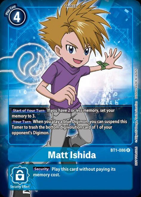 Digimon Trading Card Game 2020 V.1 Rare Matt Ishida BT1-086 [Alternative Art]