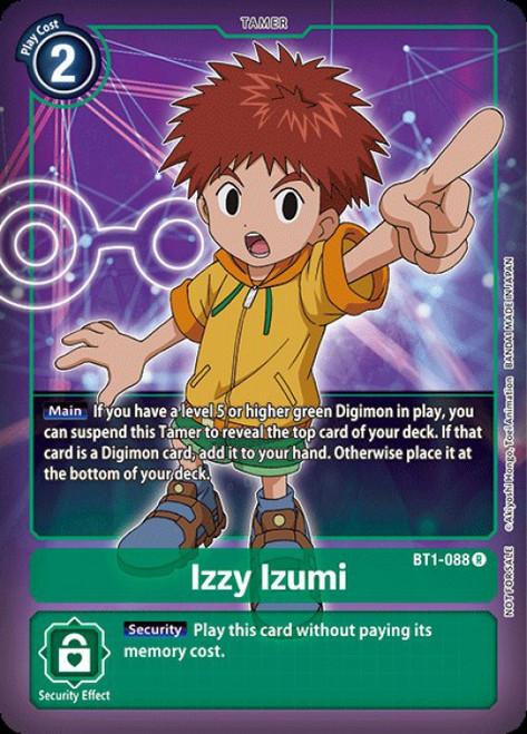 Digimon Trading Card Game 2020 V.1 Rare Izzy Izumi BT1-088 [Alternative Art]