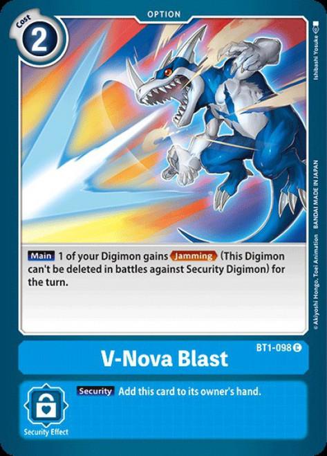 Digimon Trading Card Game 2020 V.1 Common V-Nova Blast BT1-098