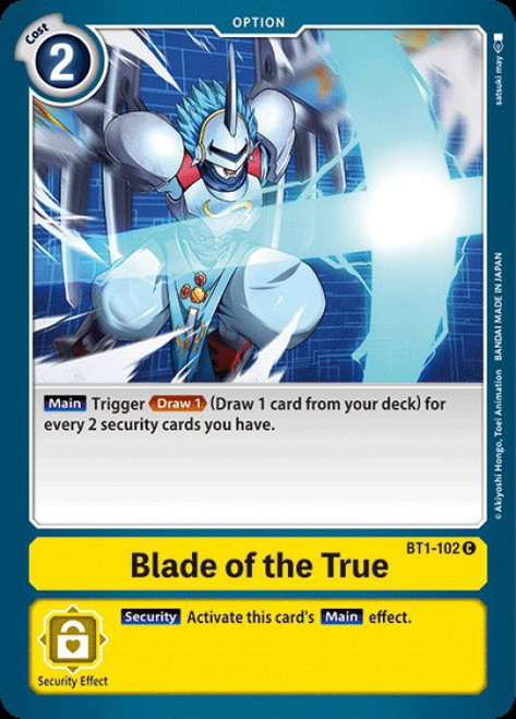 Digimon Trading Card Game 2020 V.1 Common Blade of the True BT1-102