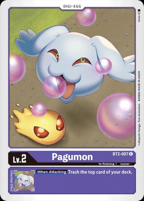 Digimon Trading Card Game 2020 V.1 Common Pagumon BT2-007