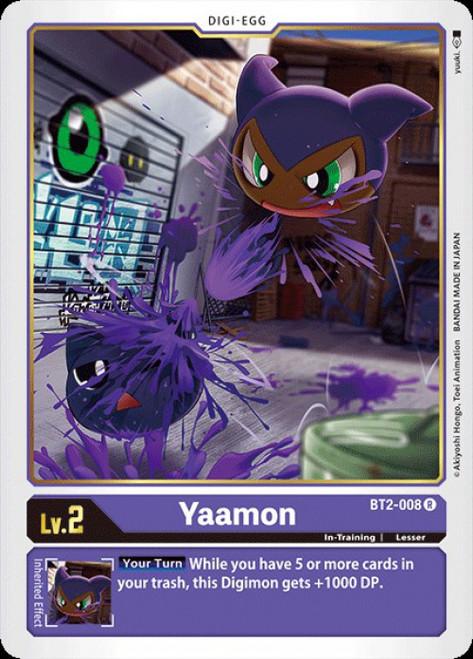 Digimon Trading Card Game 2020 V.1 Rare Yaamon BT2-008