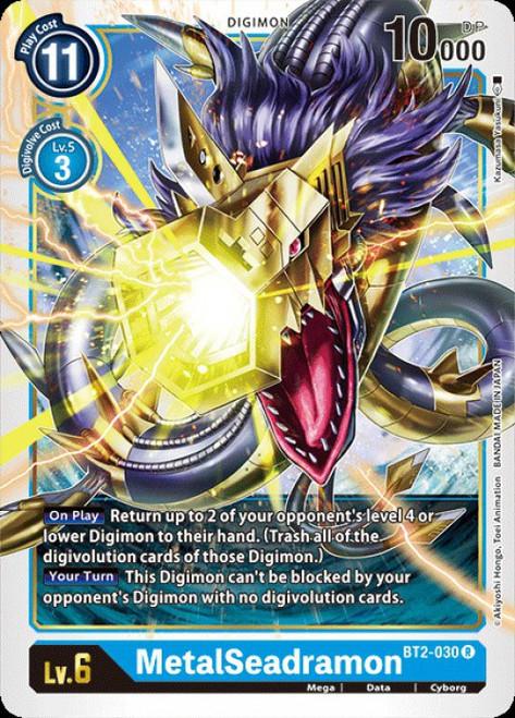 Digimon Card Game Digimon 2020 V.1 Rare MetalSeadramon BT2-030