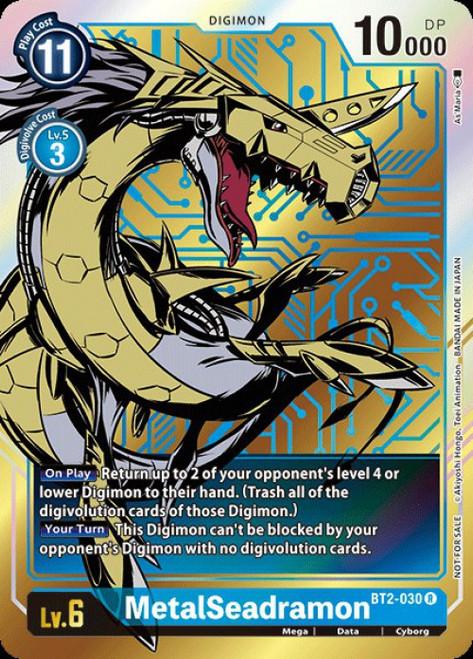Digimon Card Game Digimon 2020 V.1 Rare MetalSeadramon BT2-030 [Alternative Art]