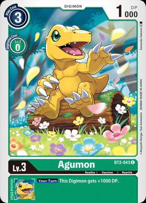 Digimon Trading Card Game 2020 V.1 Common Agumon BT2-043