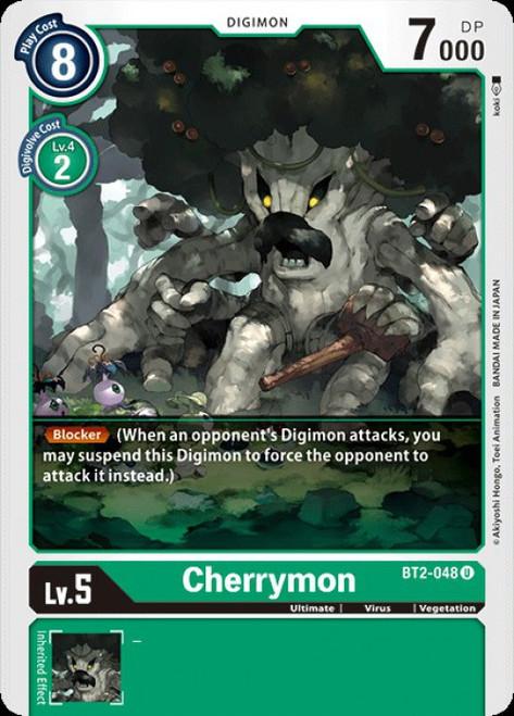 Digimon Card Game Digimon 2020 V.1 Uncommon Cherrymon BT2-048