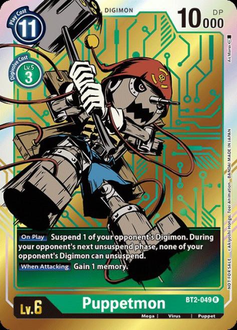 Digimon Trading Card Game 2020 V.1 Rare Puppetmon BT2-049 [Alternative Art]
