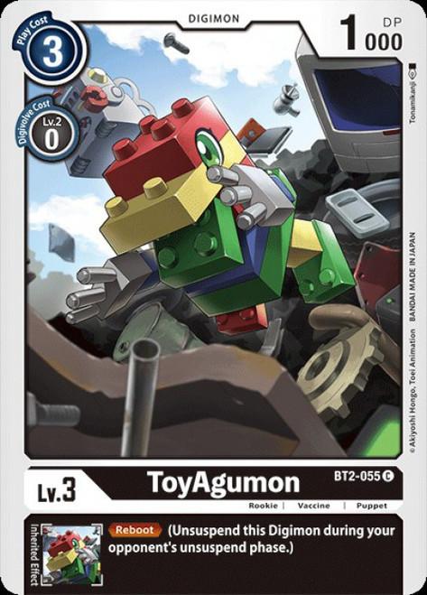 Digimon Trading Card Game 2020 V.1 Common ToyAgumon BT2-055